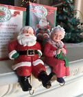 Vintage Hallmark Stocking Hanger Mr & Mrs Santa Claus 1988 Christmas