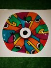 SIGNED Stunning Multi Coloured Abstract Faces Art Glass Picasso Style Face Bowl