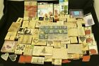 Huge 135+ Wood Rubber Stamp Collection Lot Penny Black Stampabilities etc