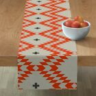 Table Runner Triangle Plus Native Natural Orange Cotton Sateen