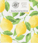 Fat Quarters Lemon Cotton 18 in x 21 in By Loops  Threads