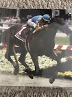 American Pharoah Set Of 3 Photos Winning The Derby, Preakness And Belmont.