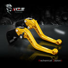 Gold MZS Short Brake Clutch Lever for Ninja 300 500 650 ZX6/R/RR ZX10/R ZX12R/9R