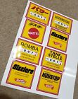 Sizzlers Juice Machine Stickers Japan Italy Mexico  Germany All 4 Hot Wheels