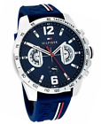 Tommy Hilfiger Original 1791476 Men's Blue Silicone Band Watch 46mm FAST SHIP