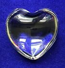 Baccarat France Puffed Heart Paperweight Crystal Clear