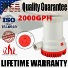 12V 2000GPH Electric Submersible Marine Bilge Sump Water Pump For Boat Yacht RV