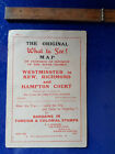 Vintage The Original What To See River Thames map timetable Kew Hampton Court