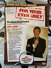 James Bond 007 For Your Eyes Only Official Film Poster Magazine Roger Moore