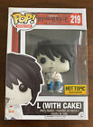 L WITH CAKE FUNKO POP! Animation #219 HOT TOPIC EXCLUSIVE DEATH NOTE Anime 2017