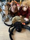 Lot Of 4 Large Ty Beanie Buddies Babies Sneaky Chocolate Schweetheart Spinner