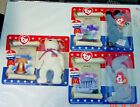 McDONALDS TY TEENIE BEANIE BABIES 1996 AMERICAN TRIO RIGHTY LEFTY LIBERTY NIB