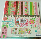 Echo Park Life Is Good 12x12 Collection Kit Paper Stickers Scrapbook Card Making