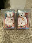 Lot of 2 Color Me Beanie Baby Bears - Brand New