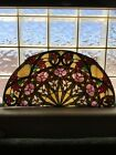 Tiffany Style Stained Glass Panel Floral Wall Hanging Sun Catcher 24 Wide
