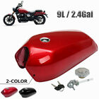 9L Universal Retro Racing Petrol Tank Blank with Lid Connector and Petrol Tap