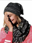 Victorias Secret PINK Beanie Hat Infinity Scarf Set Marled Black Gray NWT Winter