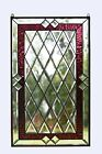 20 x 34 Stunning Handcrafted stained glass Clear Beveled window panel