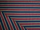 Maroon Red Navy  Gold Boating Stripe wool suiting jacketing fabric by m