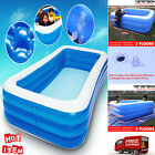 inflatable Pool Blow up Kiddie Pool for Family Garden Outdoor Backyard Ages 3+