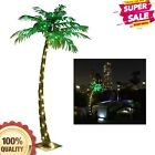 Curved LED Lighted Palm Tree Decoration for Home Party Nativity Outside Patio