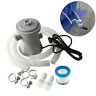 300Gallon Inflatable Swimming Pool Cleaner Electric Filter Pump Cleaning Tool