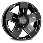 5x127 1397 20 Inch 4 Wheels Rims PANTHER OFF ROAD 902 20x9 +15 BLACK MACHINED