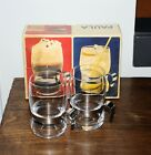 Vintage iittala Finland Set 0f 2 Glasses Mugs chrome SCANDINAVIAN DESIGN