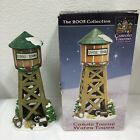 2003 Lemax Carole Towne Water Tower Christmas Village Train Accessory Winter