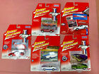 Lot of 5 Johnny Lightning 164 Ford Mustang Muscle Cars Die Cast Metal Motor