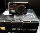 Nikon COOLPIX S3100 14.0MP Digital Camera - Black with all accessories and box