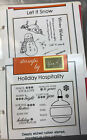 Gina K Designs 5 Christmas Unmounted Stamp Sets NLA And Never Used