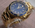 Movado Series 800 Performance,Blue Dial,18K Gold Plated S.S men's model# 2600144