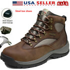 NORTIV 8 Mens Steel Toe Boots Work Safety Protection Waterproof Construction