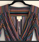 Anthropologie Maeve Sleeved Blouse Top Womens colorful stripe size 2
