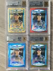 LOT of (4) 2008 Bowman Chrome Draft Refractor Mike Montgomery Auto Autograph BGS