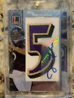 2008 Topps Letterman Joe Flacco RC Patch Auto #'D 3 7