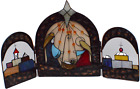 Vintage Stained Glass Nativity Scene by JCPenney 3 Sections to the set