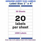 Avery Easy Peel Laser Address Labels 1 X 4 5161 Pick Your Own Of Label