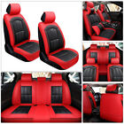 Car 5-seats Seat Cover Protector Pu Leather Cushion Full Set Universal Interior