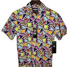 80s 90s Retro Prints Button Down Shirt Geometric VTG Saved by the Bell NEW