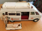 Vintage Tonka Rescue Ambulance vehicle with 3 figures + Stretcher Diecast metal