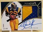 2015 Immaculate Eric Dickerson 2 Color Patch Auto Autograph 12 49 L.A. Rams!!