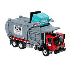 Alloy Diecast Barreled Garbage Carrier Truck 124Waste Material Transporter Xmas