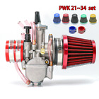 PWK 30mm Carburetor for 150cc 200cc Motorcycle + 50mm Air Filter + 35mm Adapter