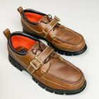 Polo Sport Size 13 D Brown Leather Shoes w Buckle Hiking Rugged