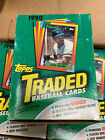 1 BOX 1990 TOPPS TRADED BASEBALL (36 PACKS PER BOX) From A Sealed Case