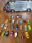 Vintage Hotwheels Diecast Mixed Lot Big Rig Carrying Case Full Cars  Some old