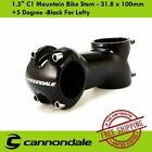 Cannondale 15 C1 Mountain Bike Stem 318 x 100mm +5 Degree Black For Lefty