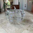 Waterford Crystal Marquis Glass Large  Heavy Pumpkin Covered Bowl Dish Germany